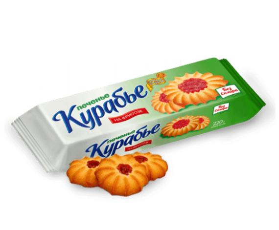 """Печенье на фруктозе """"Курабье"""", 220 гр Петродиет"""
