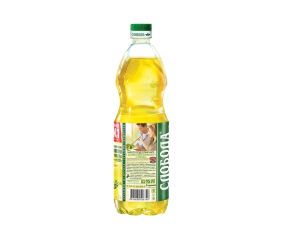 """Масло подсолнечное с оливковым рафинированное """"Слобода"""", 1 л"""