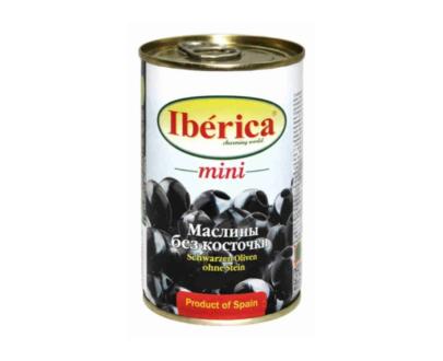 Маслины черные мини с косточкой Iberica 300 г