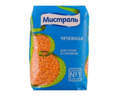 """Чечевица красная колотая для супов и гарниров """"Мистраль"""", 450 г"""