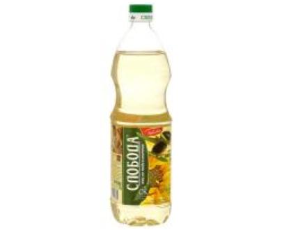 """Масло подсолнечно-оливковое рафинированное """"Слобода"""", 1 л"""