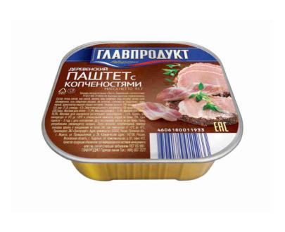 """Паштет деревенский с копченостями """"Главпродукт"""",  0,095 кг"""