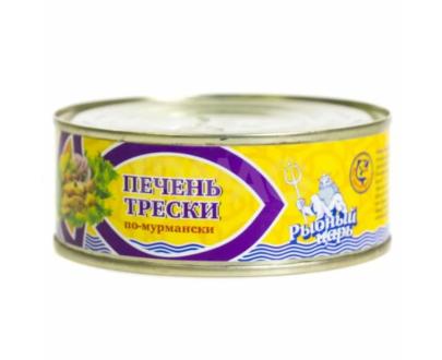 "Печень трески по-мурмански ""Рыбный царь"", 240 г"