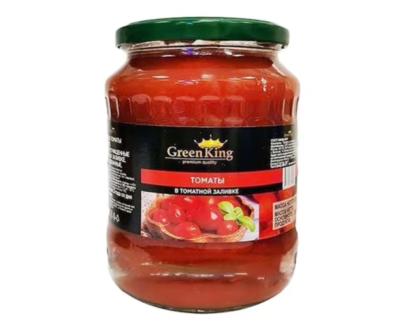"Томаты в томатной заливке""Green king"", 720 г с/б"