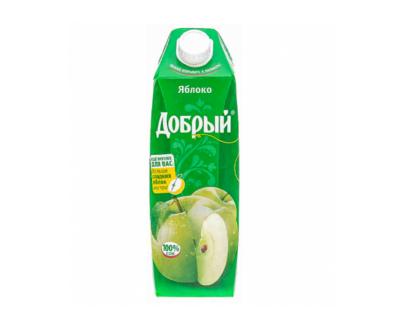 """Сок Яблоко """"Добрый"""", 1л"""