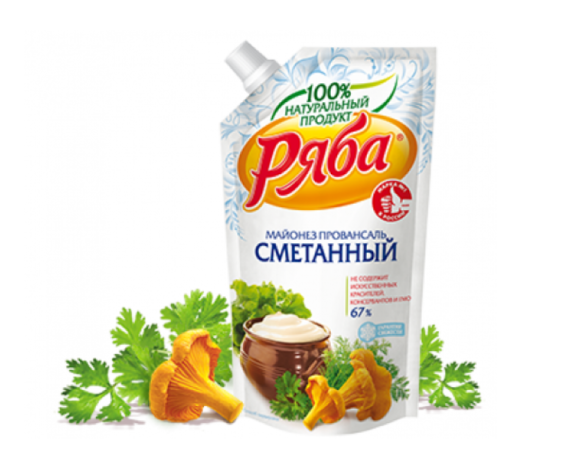 """Майонез Сметанный """"Ряба"""" 67%, 372 г"""