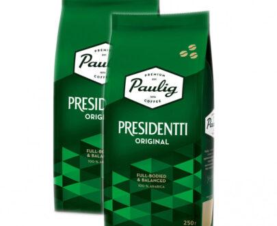 Кофе Paulig Presidentti Original зерно, 250гр.