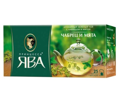Чай зеленый Принцесса Ява «Чабрец и мята» 25пак.