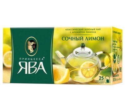Чай зеленый Принцесса Ява «Сочный лимон» 25пак.