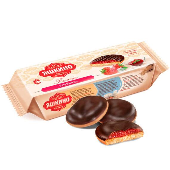 Печенье сдобное Яшкино «Клубника» 137гр.