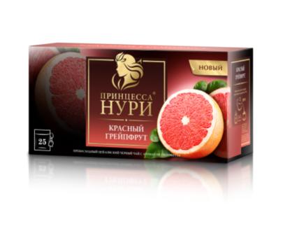 Чай черный Принцесса Нури «Красный грейпфрут» 25пак.
