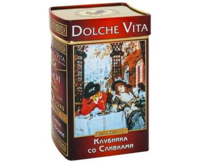 Чай «Дольче Вита» Клубника со сливками 100 гр.