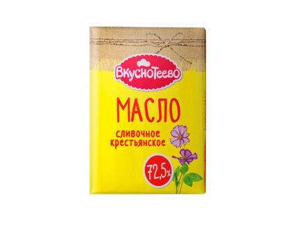 Масло сливочное Вкуснотеево крестьянское 72,5% 180гр.