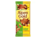 Шоколад Alpen Gold солёный миндаль и карамель 85гр.