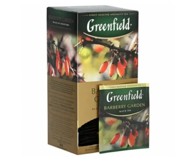 Чай черный Greenfield Barberry garden 25пак