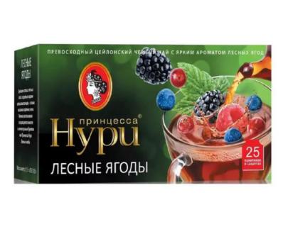 Чай черный Принцесса Нури «Лесные ягоды» 25пак.