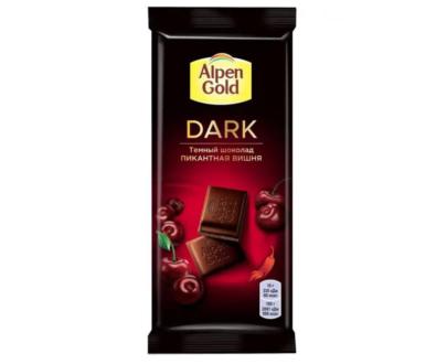 Шоколад Alpen Gold темный шоколад пикантная вишня 80гр.