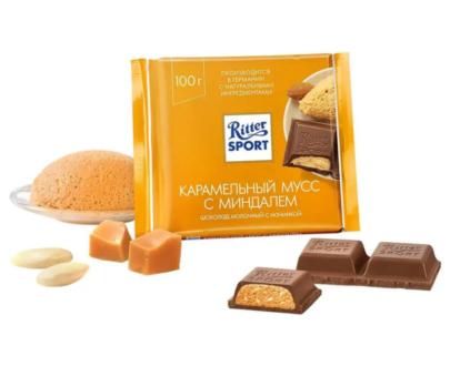 Шоколад Ritter Sport карамельный мусс 100гр.